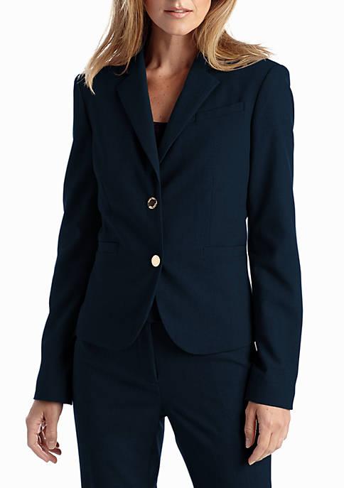 Calvin Klein Notched Collar Suit Jacket