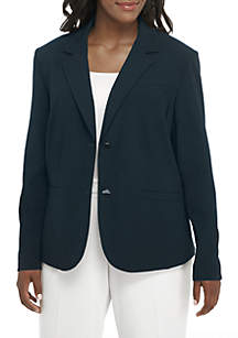 Plus Size Double-Button Jacket