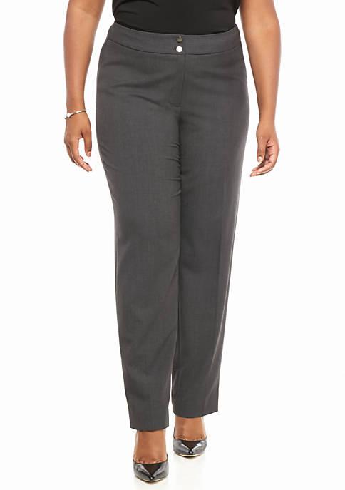 Calvin Klein Plus Size Flat Front Pants