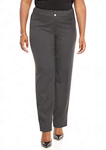 Plus Size Flat Front Pants