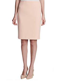 Scuba Crepe Straight Skirt