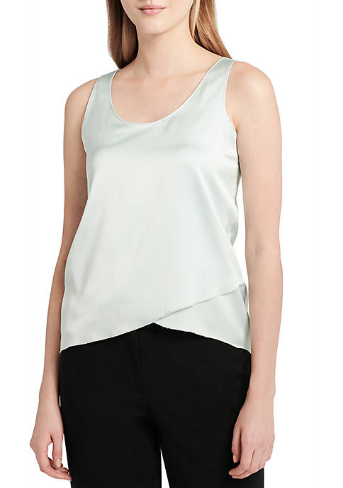Calvin Klein Sleeveless Asymmetrical Hem Top