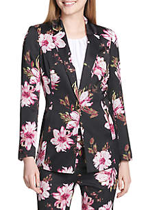 Calvin Klein Floral 1 Button Jacket