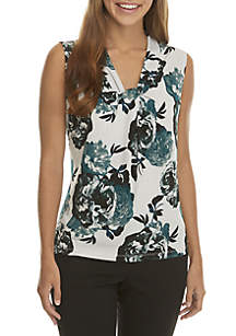 Floral Print Knot Neck Cami