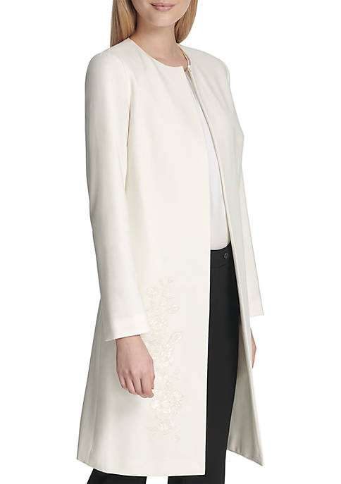 Long Sleeve Embroidered Blazer