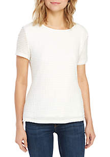 Calvin Klein Short Sleeve Textured Knit Top