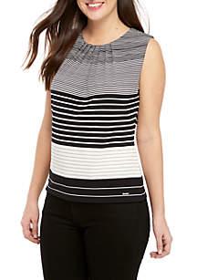 Sleeveless Multi Stripe Cami