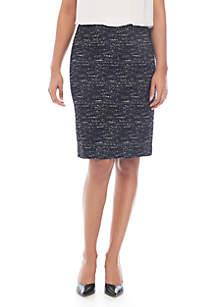 Ponte Printed Skirt