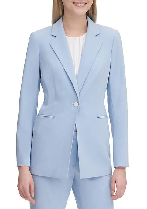 Calvin Klein One Button Solid Jacket