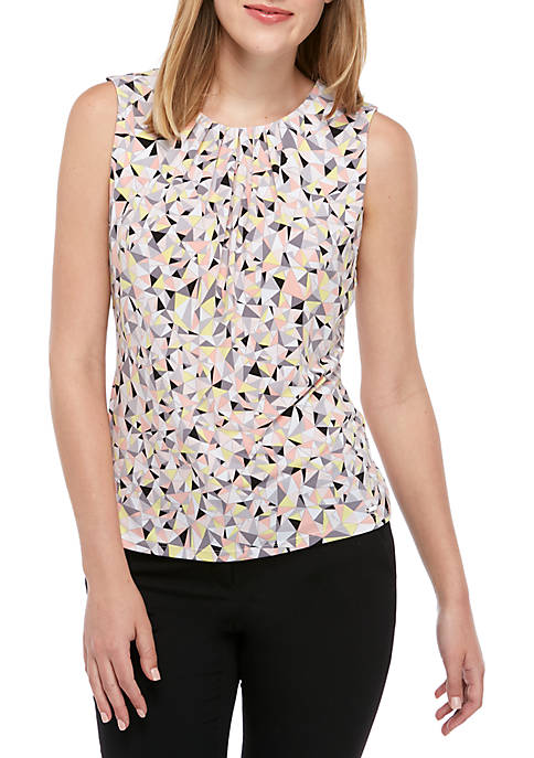 Calvin Klein Abstract Pleat Neck Cami