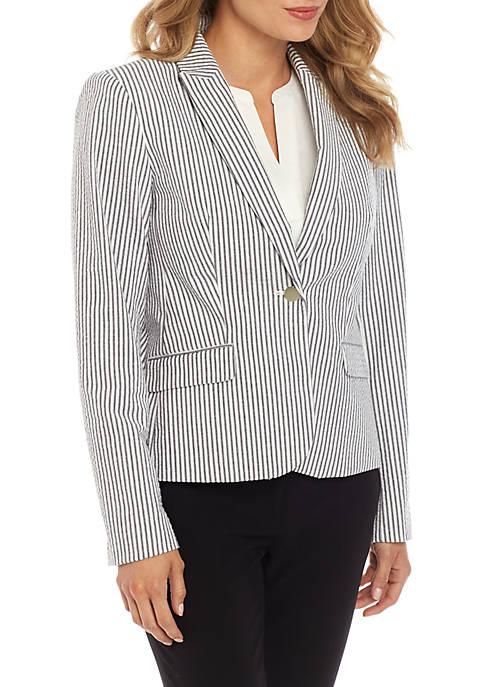 1 Button Stripe Jacket