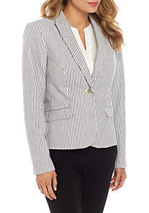 Calvin Klein 1 Button Stripe Jacket