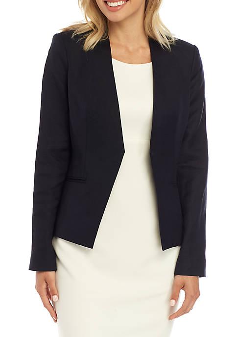Asymmetrical Open Front Jacket