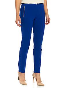 Calvin Klein Zip Pocket Crepe Pants
