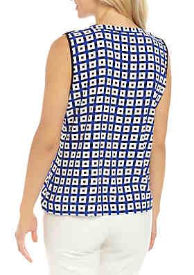 15da0c4c2f25 ... Calvin Klein Sleeveless Circle Split Neck Top