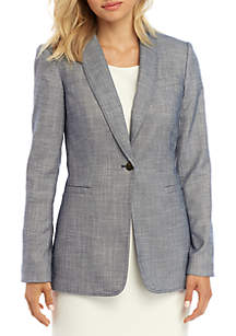 Calvin Klein Textured Shawl Collar Jacket