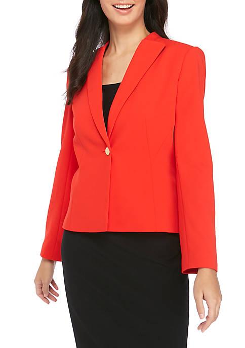 Calvin Klein Womens One Button Suit Jacket