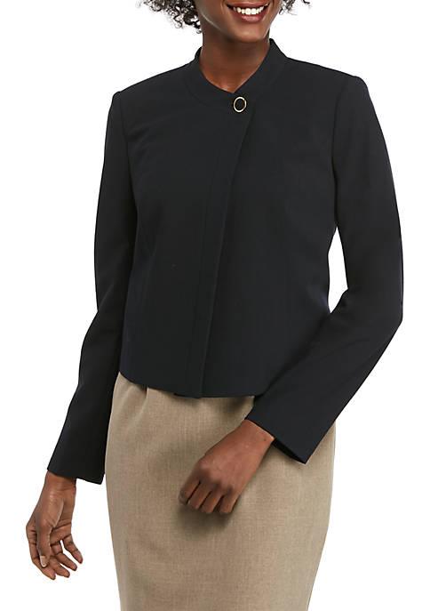 Calvin Klein Womens Lux Snap Button Jacket