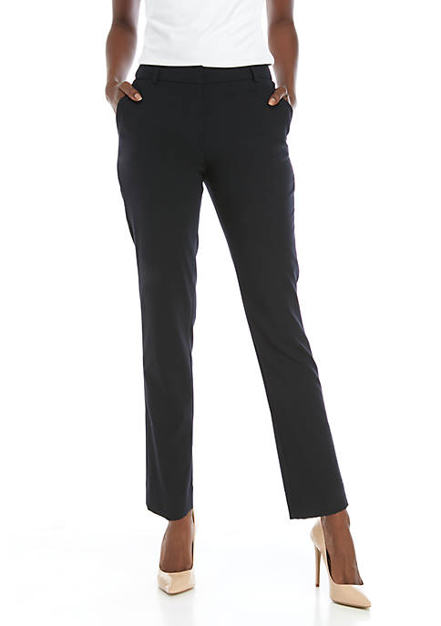 Calvin Klein Womens Belted Detail Luxe Pants