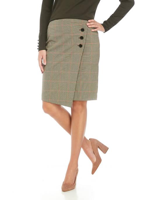 Calvin Klein Womens Side Button Skirt