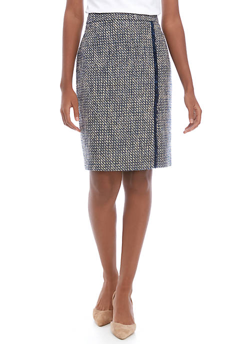 Calvin Klein Womens Tweed Skirt