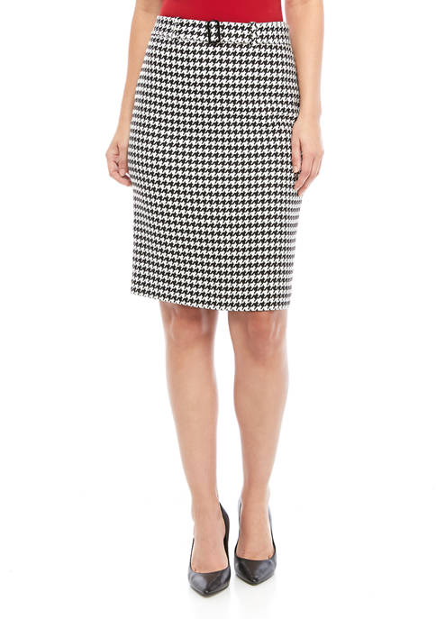Womens Houndstooth Skirt