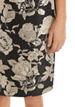 Womens Floral Jacquard Skirt
