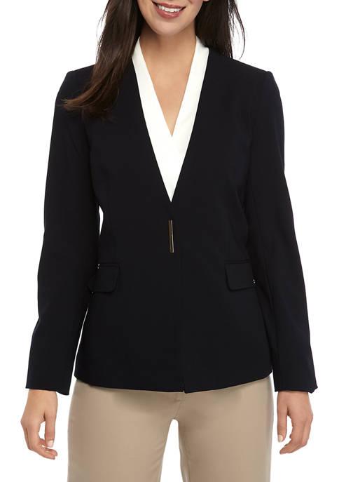 Calvin Klein Womens Lux Jacket with Hardware