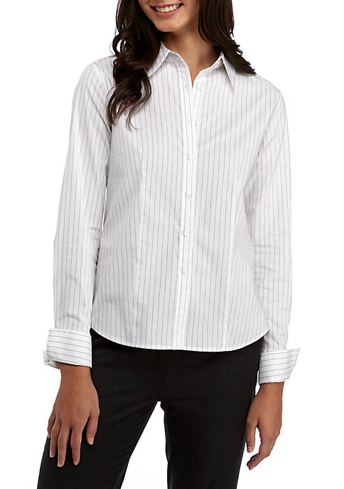 Calvin Klein Long Sleeve Striped Oxford Woven Shirt