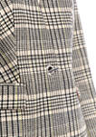 Womens Plaid Toggle Front Woven Jacket