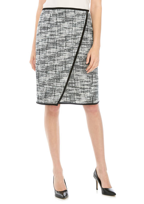 Calvin Klein Womens Piped Skirt