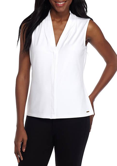 Calvin Klein Womens V Neck Solid Cami