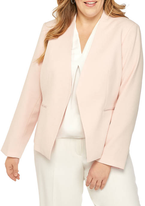 Calvin Klein Plus Size Asymmetric Novelty Jacket