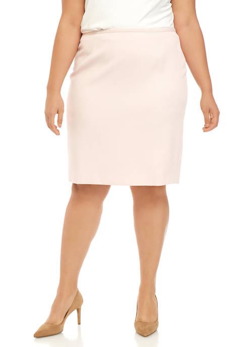 Calvin Klein Plus Size Novelty Straight Skirt