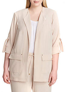 Open Cuffed Stripe Jacket