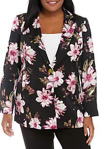 Plus Size Floral Jacket
