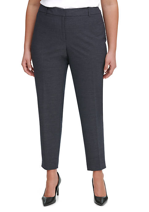 d06589e65171 Calvin Klein Plus Size Novelty Slim Pants