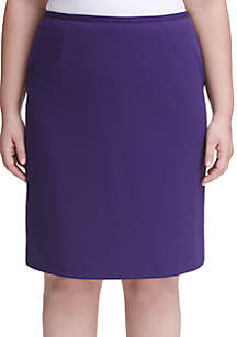 Plus Size Scuba Crepe Skirt