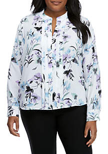 Calvin Klein Plus Size Floral Top