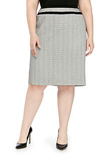 Calvin Klein Plus Size Novelty Piped Skirt