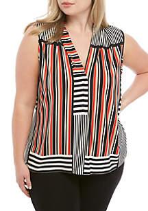 Calvin Klein Plus Size Stripe V-Neck Cami