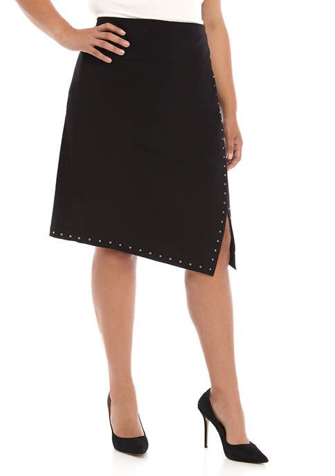 Calvin Klein Plus Size Stud Detail Skirt