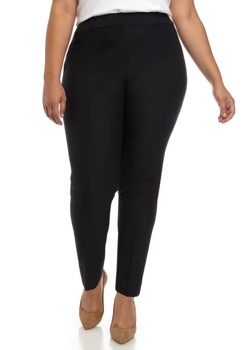 Plus Size Solid Trouser Pants
