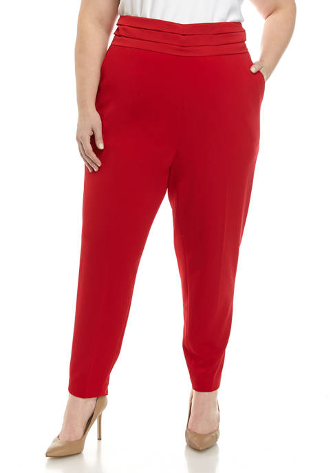 Calvin Klein Plus Size Banded Trouser Pants