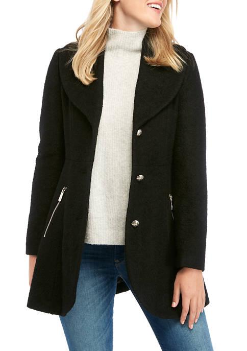 Womens Boucle Wool Coat