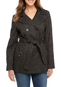 Double Breasted Fleece Jacket