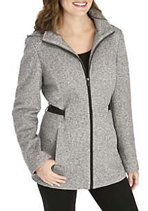 Sweater Fleece Single Breasted Coat