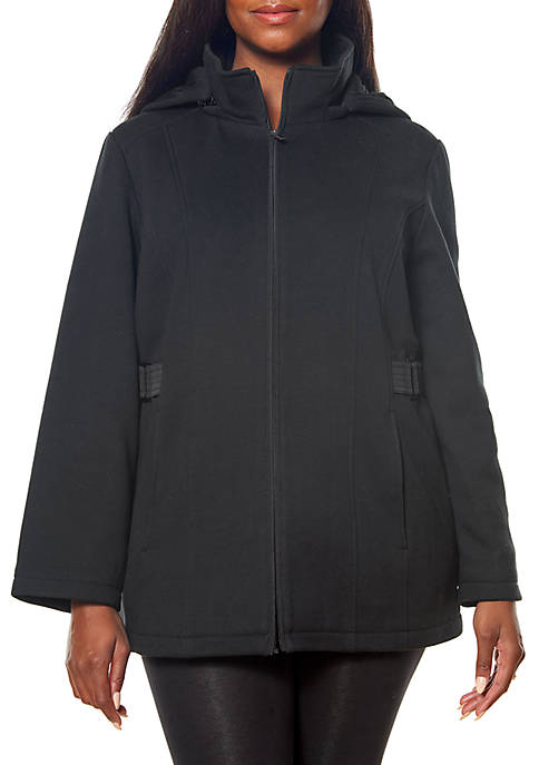 Jones New York Plus Size Zip Front Fleece