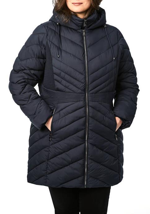 Bernardo Plus Size Softy Glam icon Walker Jacket