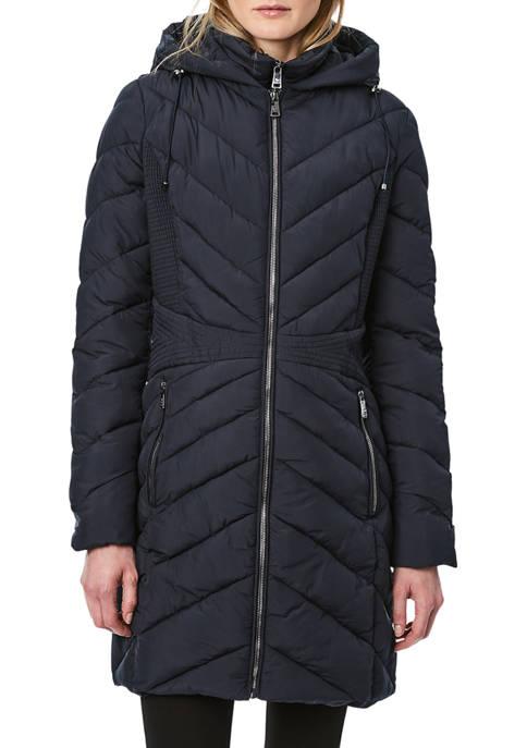 Bernardo Womens Softy Glam Icon Frappe Walker Jacket